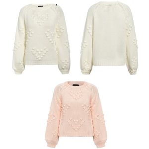 Sweaters - 💗SALE! 🎉HP🎉Pom-poms Hearts Sweater